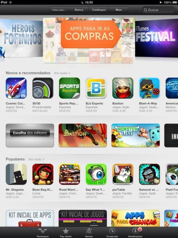 App Store de visual pronto no iOS 6