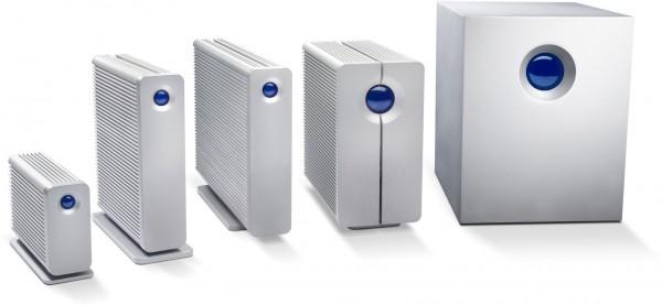 Linha de HDDs externos com RAID da LaCie