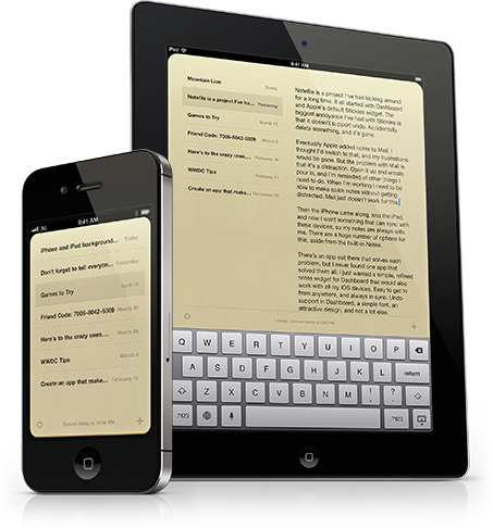 Notefile para iOS