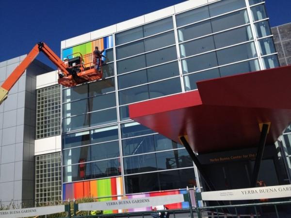 Yerba Buena Center sendo preparado pela Apple