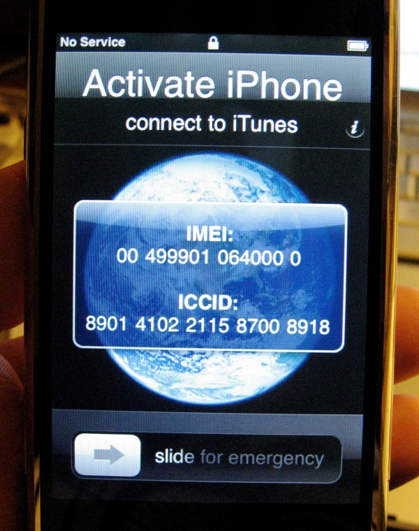 iPhone desativado por IMEI