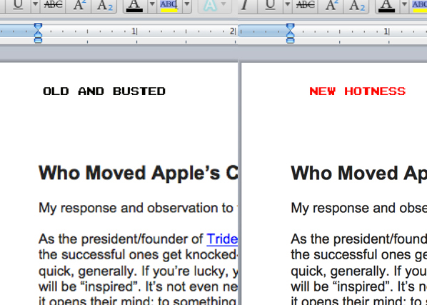 Microsoft Word com Retinizer