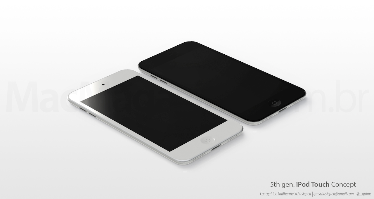 Mockup de novo iPod touch, do Guilherme