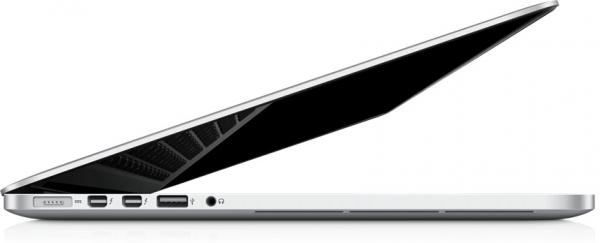 MacBook Pro com tela Retina de lado