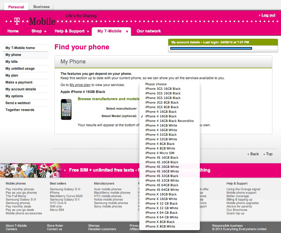 iPhones X na T-Mobile