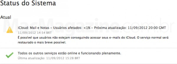 Status do iCloud