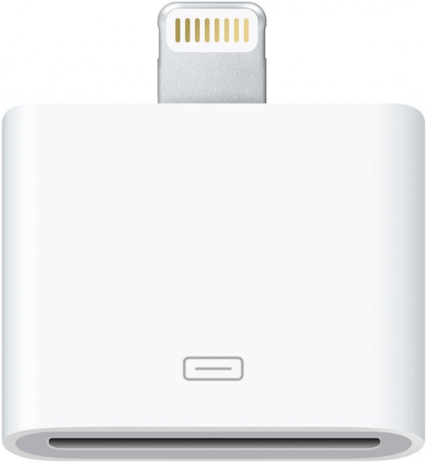Adaptador do conector dock de 30 pinos para Lightning