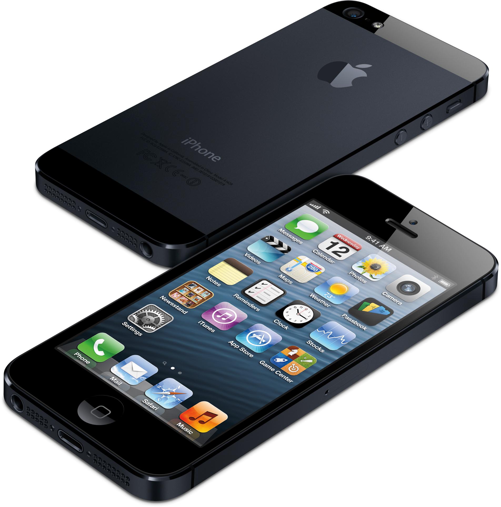 iPhone 5 de cima e de lado, de frente e de costas