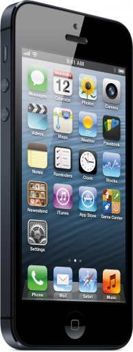 iPhone 5 preto de frente e de lado