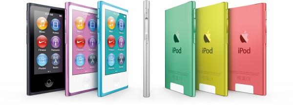 Nova família de iPods nano