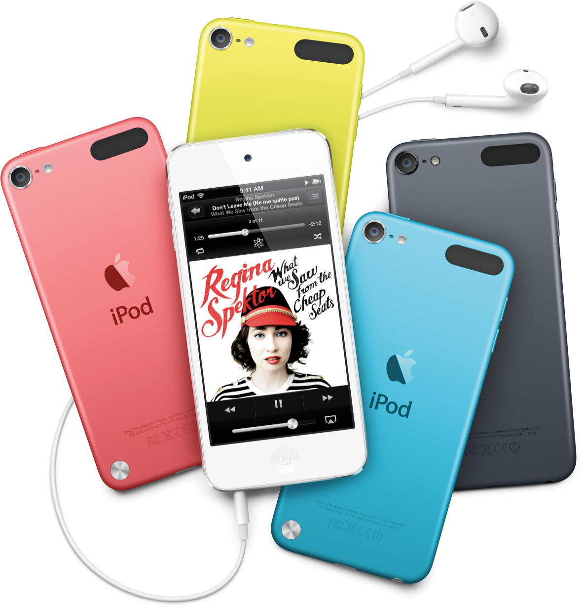 Nova família de iPods touch espalhada