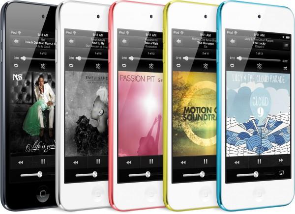 Novos iPods touch de frente e de lado