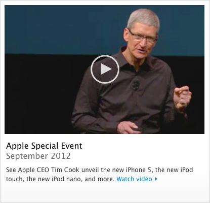 Keynote da Apple de 12 de setembro