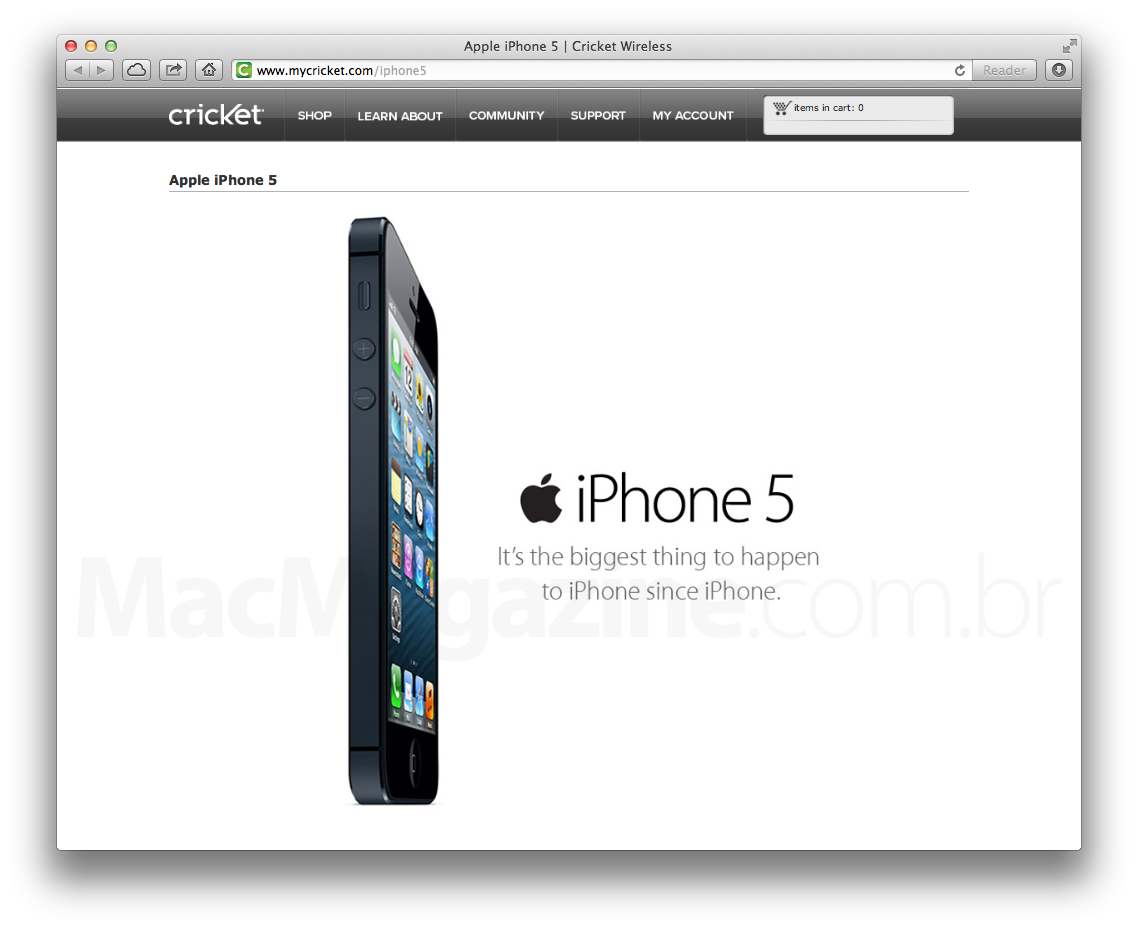 iPhone 5 na operadora Cricket