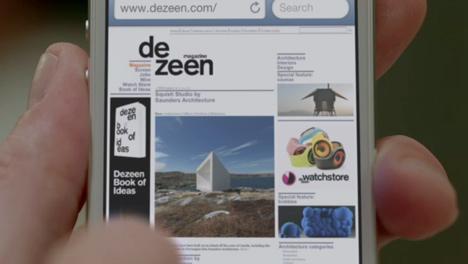 Dezeen magazine no vídeo de apresentação do iPhone 5