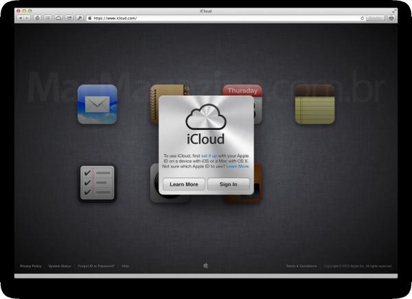 Novo iCloud.com