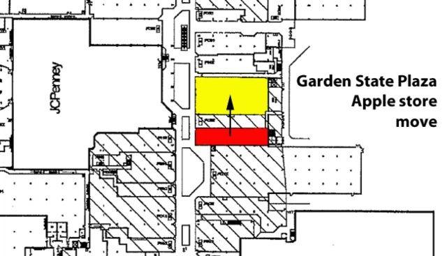 Mudança da Apple Retail Store do Garden State Plaza
