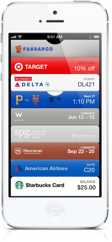 Passbook no iPhone 5