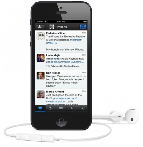 Tweetbot no iPhone 5