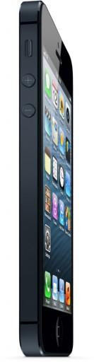 iPhone 5 em pé e bem de lado