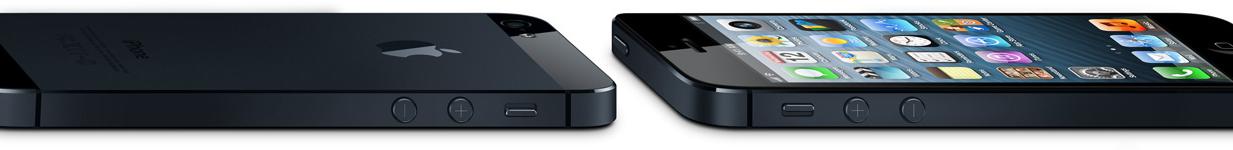 iPhones 5 deitados e de lado