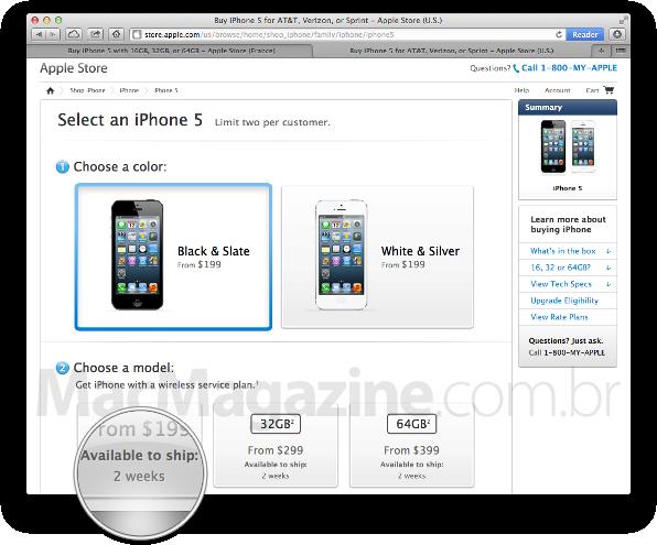 Pré-venda do iPhone 5