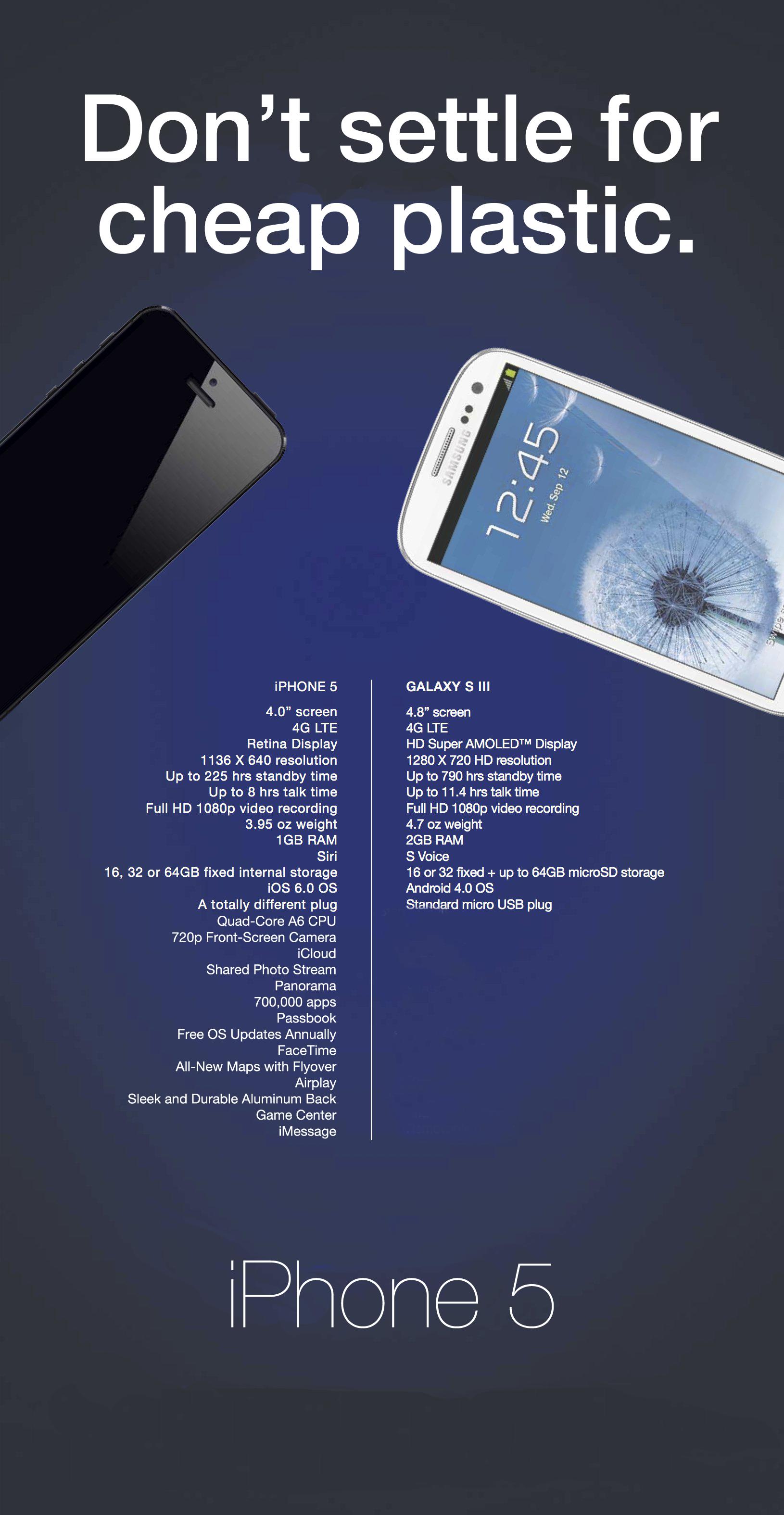 Resposta do iPhone 5 à Samsung