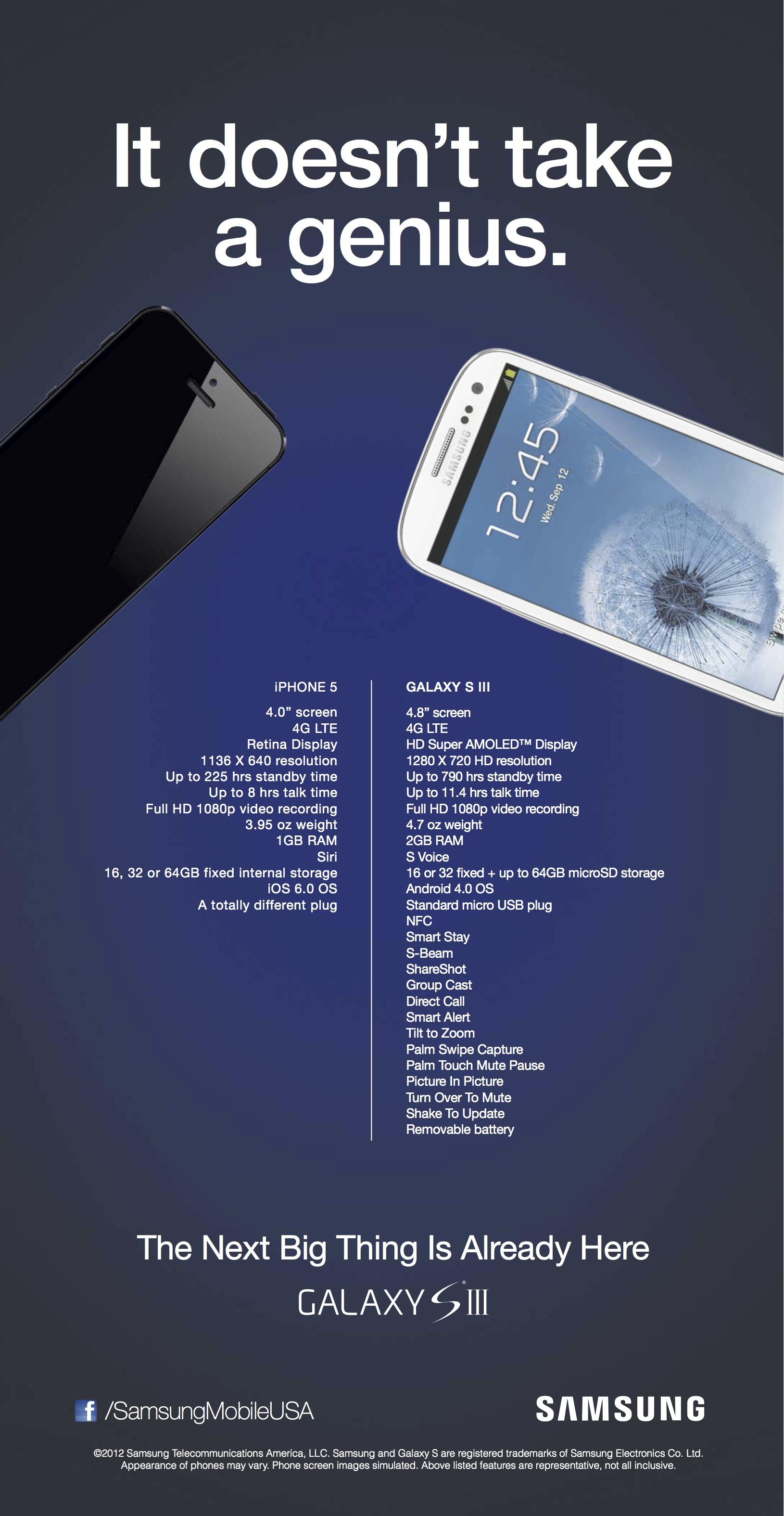 Propaganda da Samsung contra iPhone 5