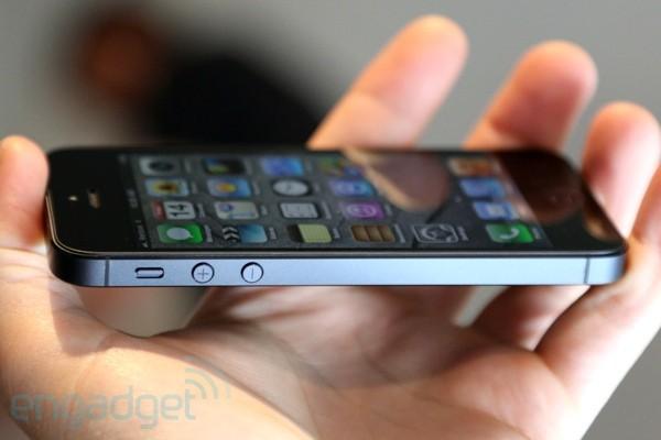 iPhone 5 de lado, via Engadget
