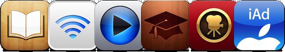 Ícones de apps da Apple
