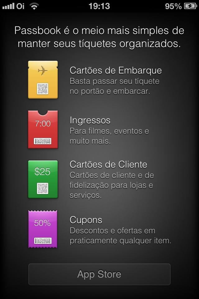 Aplicativo Passbook