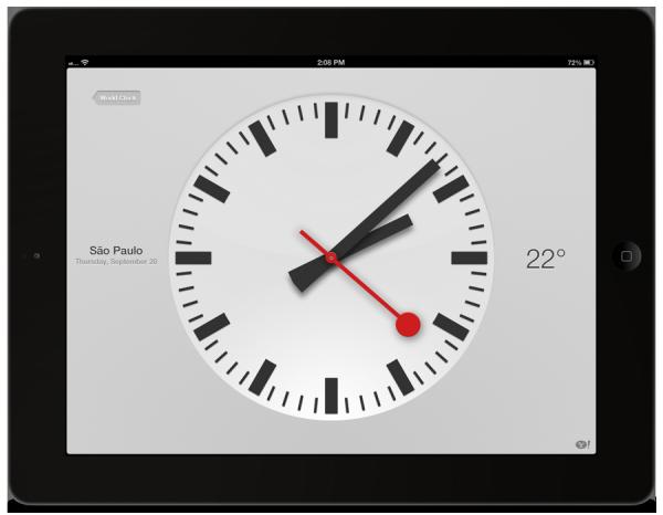 Relógio do iPad