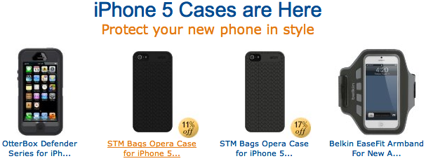 Capas para o iPhone 5, na Amazon