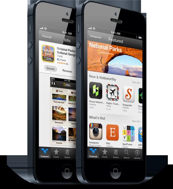 iPhones 5 de pé