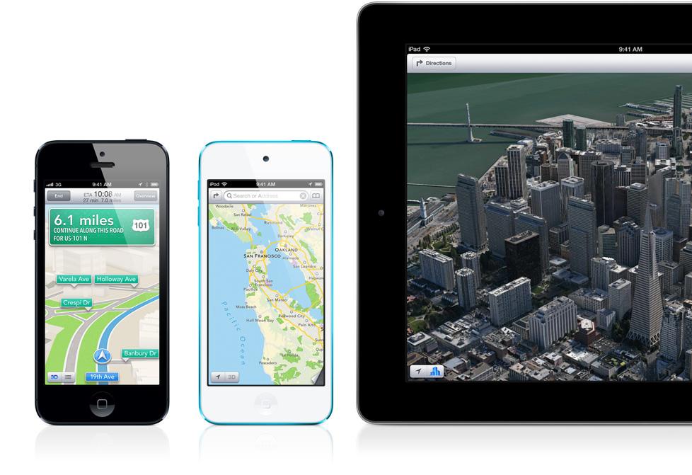 Mapas do iOS 6