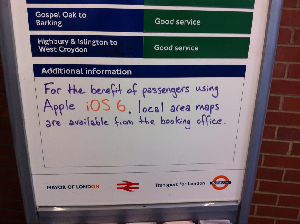 Aviso sobre mapas no metrô de Londres