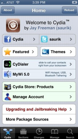 Cydia Store no iPhone 5