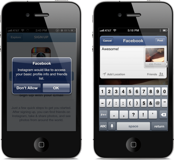 Facebook SDK 3.1 para iOS 6 em iPhones