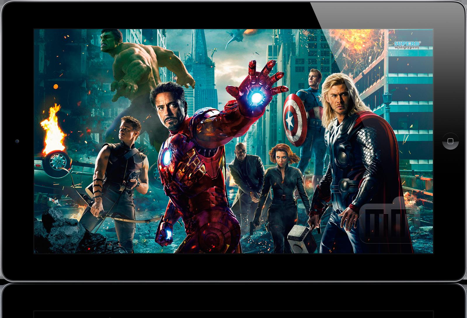 Mockup de iPad widescreen, 16:9