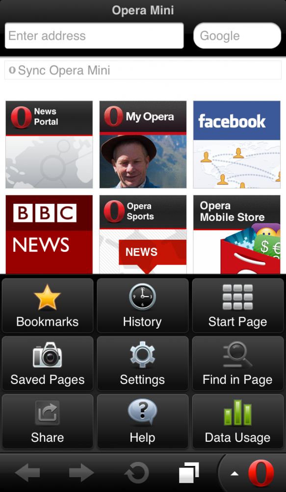 Opera Mini Web browser - iPhone 5