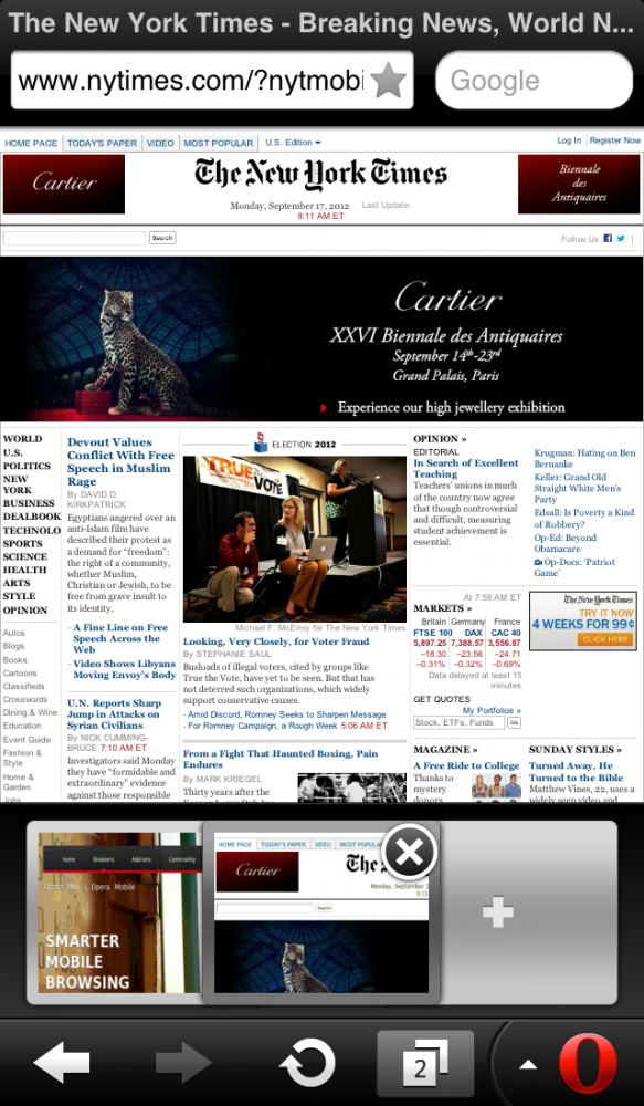 Opera Mini Web browser - iPhone 5