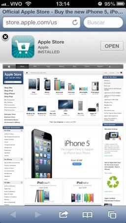 Smart App Banner na Apple Online Store