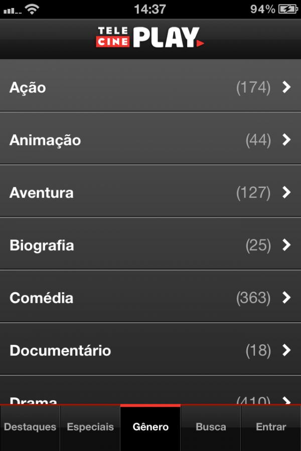 Telecine Play - iPhone