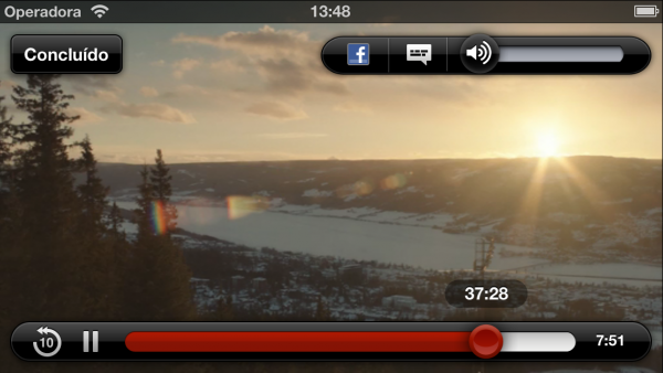 Netflix em widescreen no iPhone 5
