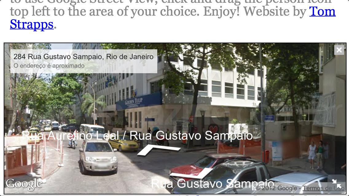 Google Street View em HTML5
