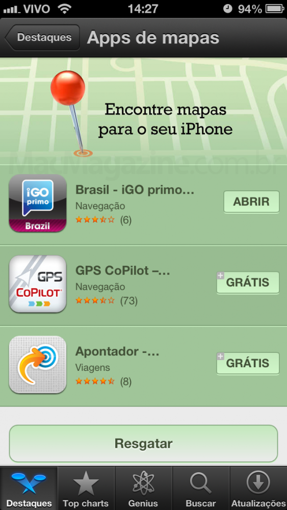 Apple promovendo apps de mapas