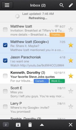 Gmail no iPhone