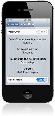 VoiceOver no iPhone