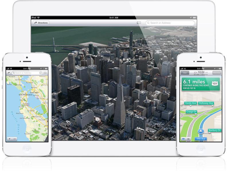 Mapas (Maps) do iOS 6