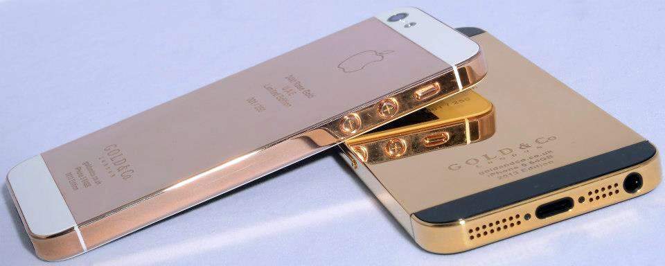 iPhones 5 de ouro